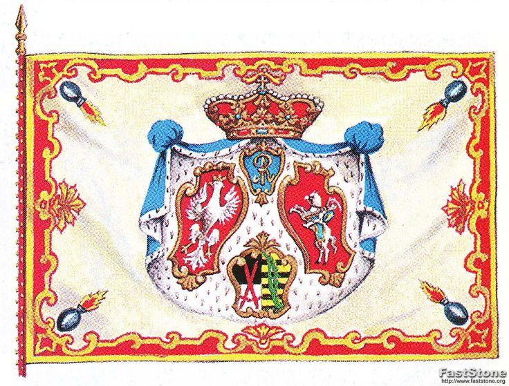 Chorągiew piechoty z czasów króla Augusta II.