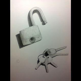 Log and Keys . . #Log #Keys #things #sketch #sketching #draw #drawing #handdrawing #freehand #pointless #pointillism #dotted #drawingpen #snowmanid #monochrome #art #artwork #myfreehandArt #AAI