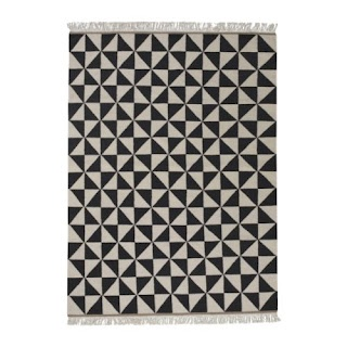 graphic black and white rug