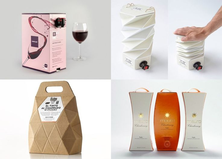 We've been collecting great looking wine packagings for a while here at Ateriet. Now the time has come to Bag in Box wine packaging.