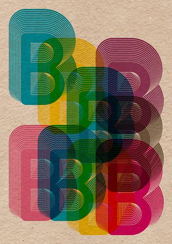 B Poster Repeat, 2 (by Boldover Design)