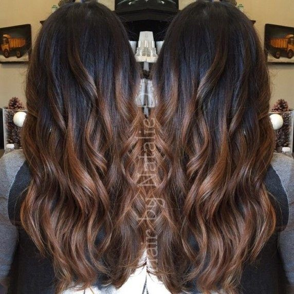 What hair color and style (streaks/highlights) suits a dusky Indian girl with fairly thick, jet black, wavy and mid waist hair? - Quora