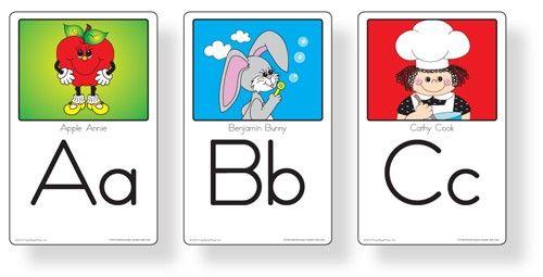 English Alphabet Wall Cards - Frog Street Pre-K - Curriculum    Frog Street Press