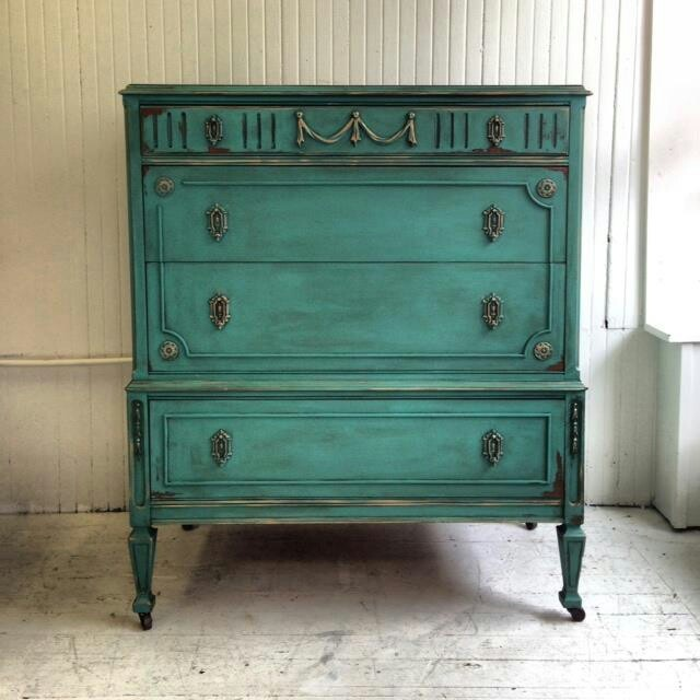Pretty painted dresser - teal - 37 Best Green Furniture Inspiration Images On Pinterest Painted