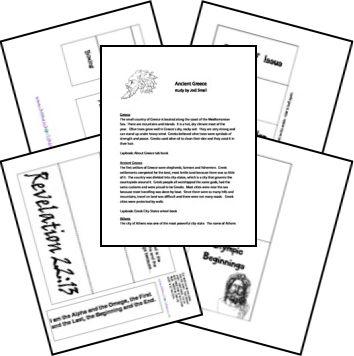 Week 3 & 4:  FREE Ancient Greece Unit & Lapbook
