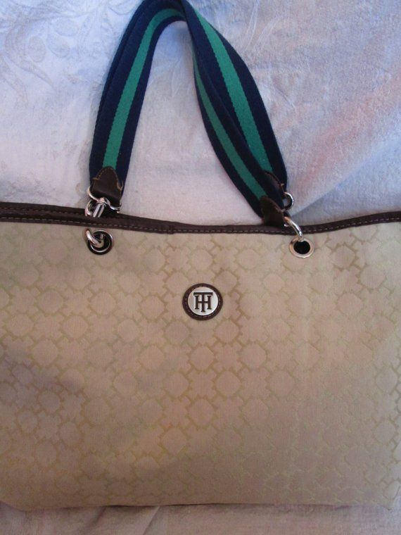 c4fd6a5f20c TOMMY HILFIGER Tote, Authentic Vintage 90's Light Weight Bag, Purse,  Blemished
