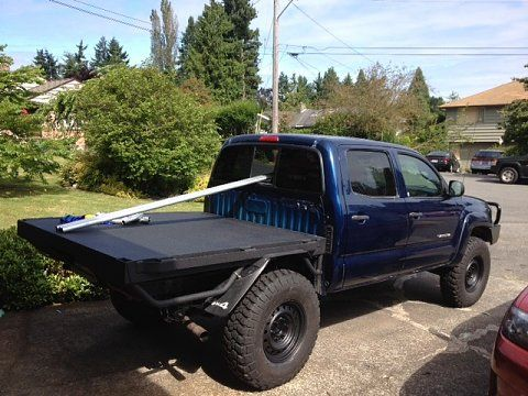 B C E Ee Cf D F E E E A Flat Bed Taco on Custom Flatbed For Toyota Tundra