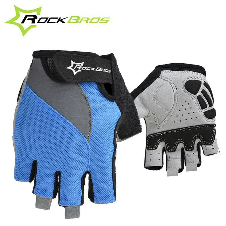 RockBros Non-Slip Breathable Bike Gloves Mens Women's Summer Bicycle Short Gloves Cycling Cycle Gel Pad Short Half Finger Gloves //Price: $18.95 & FREE Shipping //     #hashtag4
