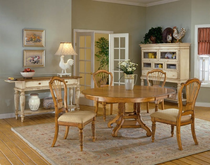 Hillsdale Furniture 450 Wilshire Round Oval Dining Table TableThe Collection Features A Blend Of Cottage Styling With