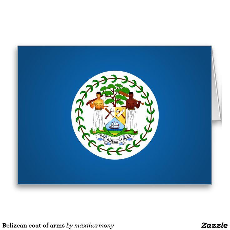 Belizean coat of arms greeting card