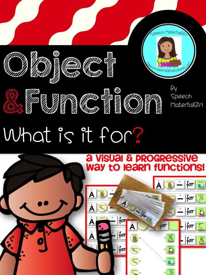 Object Function Speech Therapy Worksheet : Speech therapy object function identify and make sentence