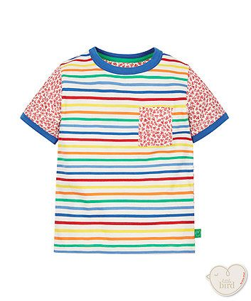 Little Bird by Jools Stripe Front Floral Back Tee