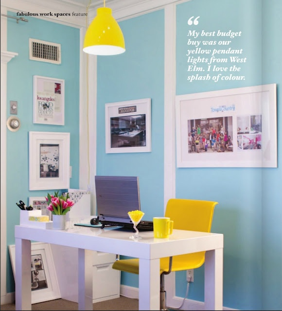 Blue And Yellow Office Space Patio Decor Pinterest Blue And, Office Spaces  And Yellow