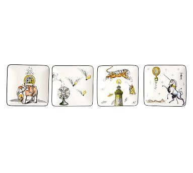 cirque appetizer plates set of 4 - Horderves Plates