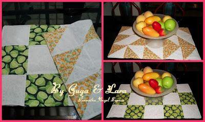 Guga & Lara : ♥Caminho de mesa Laranja e limão ♥