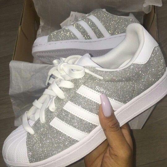adidas damen superstar sneakers glitter