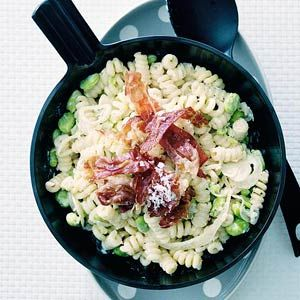 Recept - Fusilli met tuinboontjes en parmaham - Allerhande