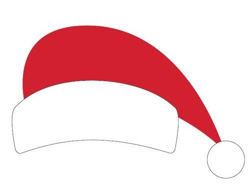 "OL267 - 8.5"" x 11"" - Santa Hat Printable Christmas Photo Booth Prop"