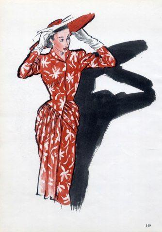 Jacques Fath 1946  René Gruau