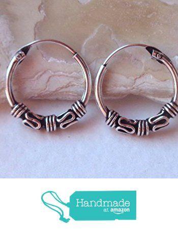 Hoop Earrings Tribal Oxidized 925 Sterling Silver.Diameter 10mm https://www.amazon.com/dp/B074CYRQ1R/ref=hnd_sw_r_pi_dp_SshFzbTW221S4 #handmadeatamazon