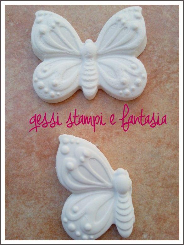 Farfalle in gesso ceramico