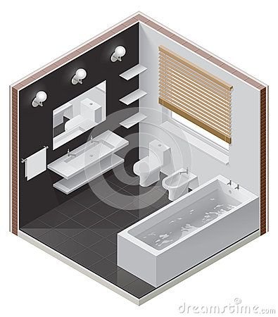 9 best images about isometric on pinterest behance for Bathroom design 2d
