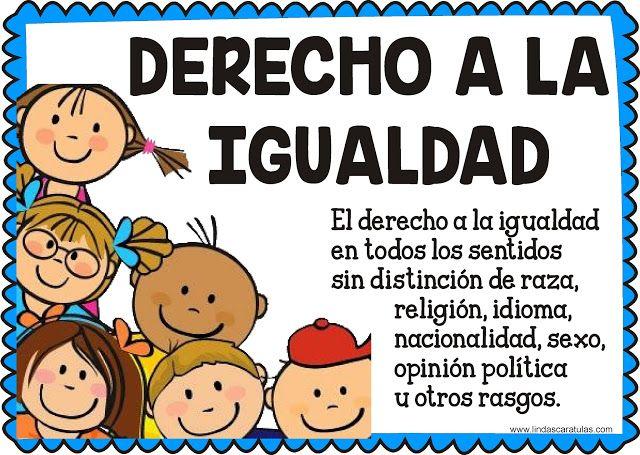 Lindas Caratulas Derechos Fundamentales Del Nino Y La Nina Imagenes De Los Derechos Imagenes De La Igualdad Deberes De Los Ninos