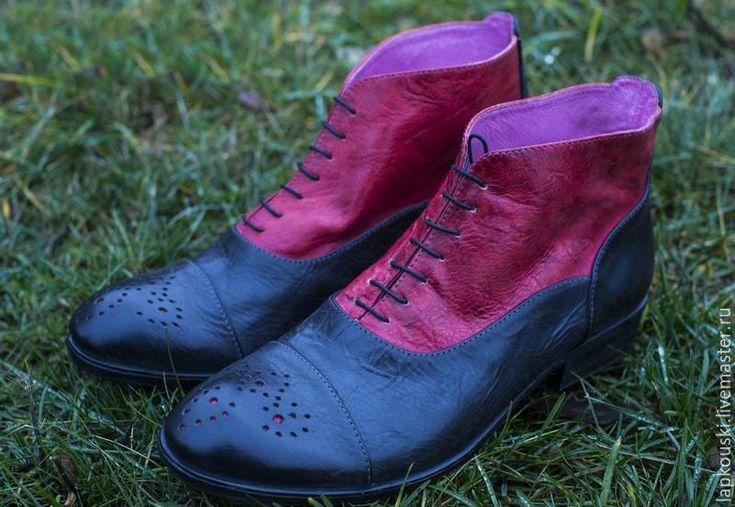 Купить Мужские оксфорды для настоящих стиляг )) - обувь на заказ, обувь ручной работы