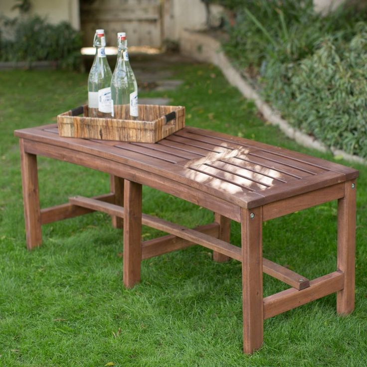 4 ft outdoor wood curved backless bench dark brown ns curved backless bench