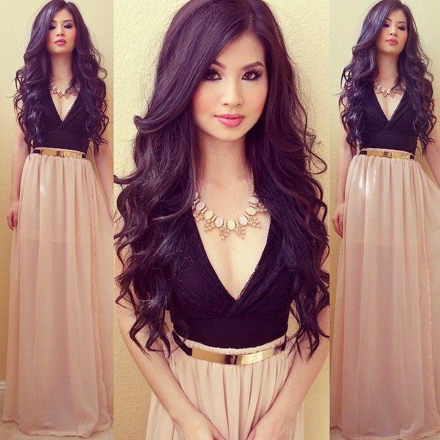 My favorite maxi skirt/belt from @lookbookstore #lookbookstore | Get it at www.lookbookstore.co Necklace from @lovestylize | Get it at www.lovestylize.com Dress from @karmaloop (I layered it underneath)
