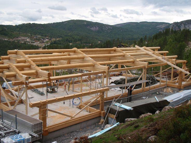 Монтаж каркаса в Норвегии