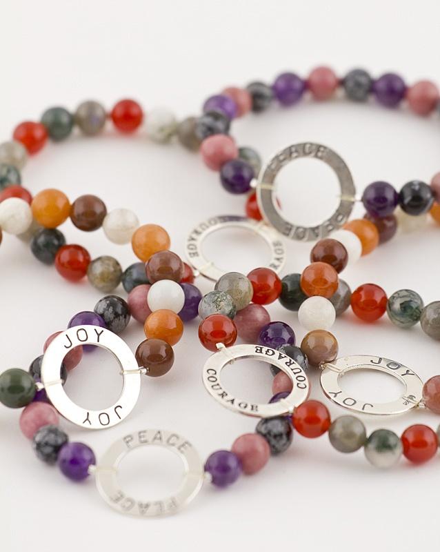 Affirmation Bracelets  Joy, Courage, Peace
