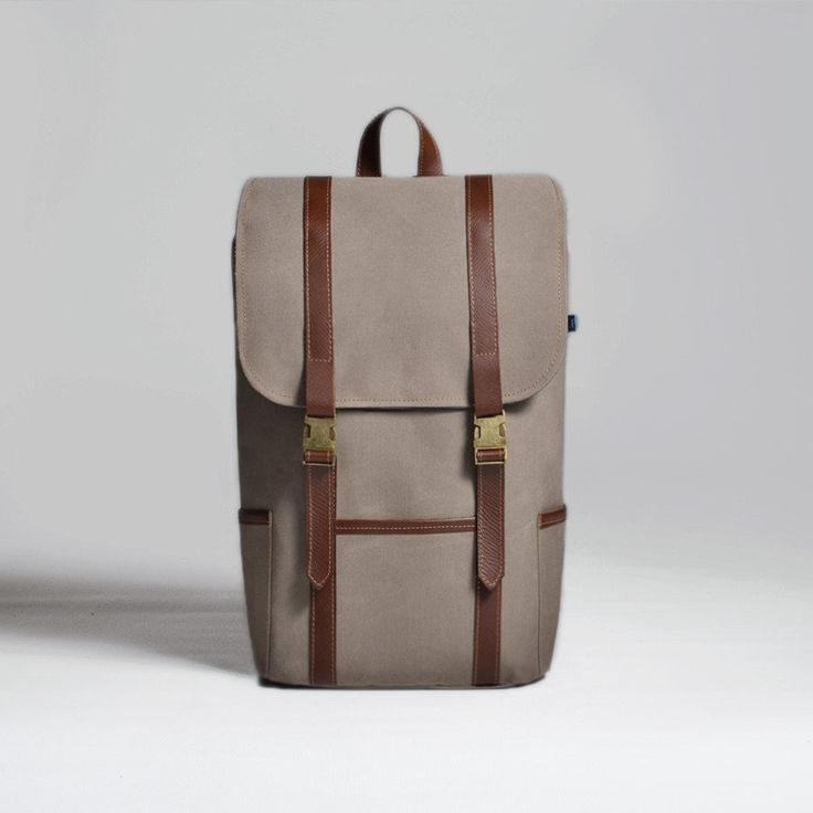 The Forge Backpack in taupe by Mother Co. Made in Canada  - $149