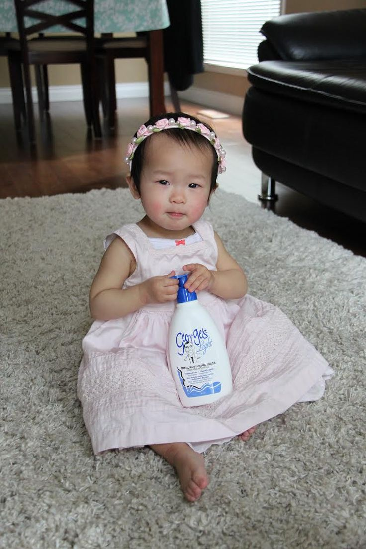So cute and adorable!!  Meet one year old Tabitha, one of George's Cream biggest fans!  #georgescream #skincare #realfan