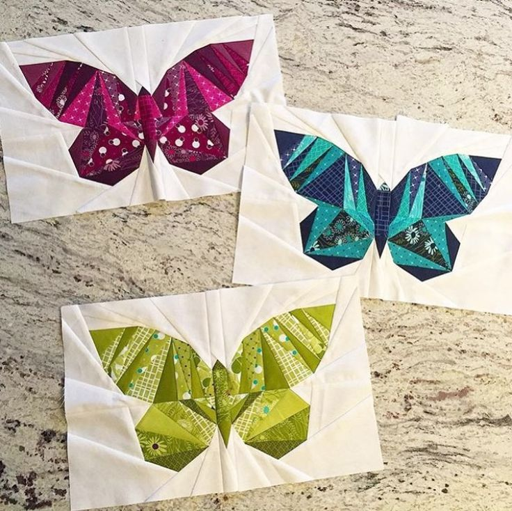 Butterfly quilt blocks by Sariditty. Take Wing Paper Piecing Pattern by lillyella stitchery. Fabric by V and Co.
