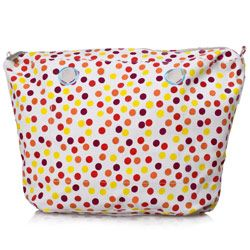 Canvas Inner Zip-up Bag - Red Pois - a Mini O bag Accessory