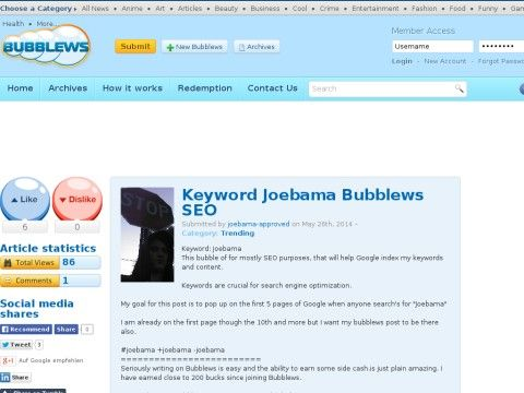 Keyword Joebama Bubblews SEO - News - Joebama Bubblews