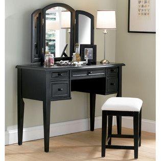 1000 images about vanity set on pinterest vanity desk black vanity set and lighted vanity mirror. Black Bedroom Furniture Sets. Home Design Ideas