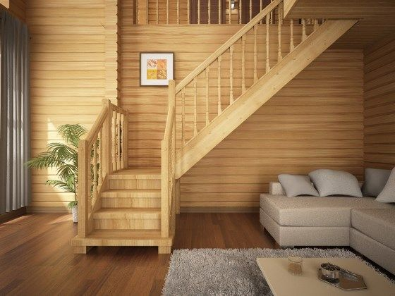 Чтобы ослабить негативную энергию возле лестницы, используйте картины и живые растения.