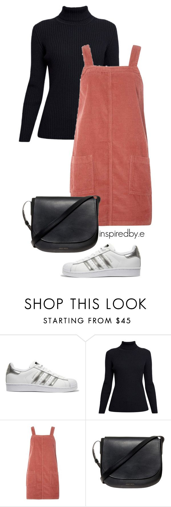 """Peach bum"" by emmakiis on Polyvore featuring adidas Originals, Rumour London, Dorothy Perkins and Mansur Gavriel"