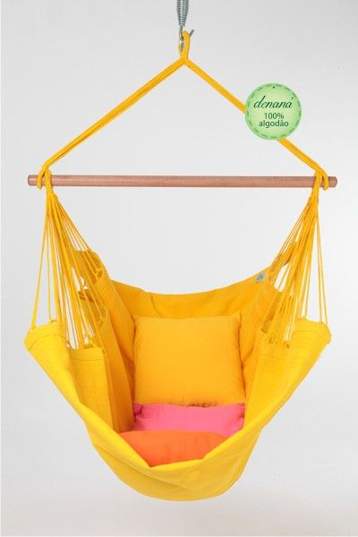 Cadeira - AMARELA - Denaná - A Sua Rede de Descanso