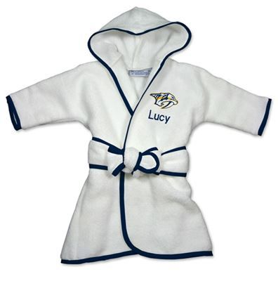 9 best nashville predators baby gifts images on pinterest baby officially licensed personalized winnipeg jets robe will keep your little nhl fan snuggly warm and cozy personalized with babys name and the jets logo negle Choice Image