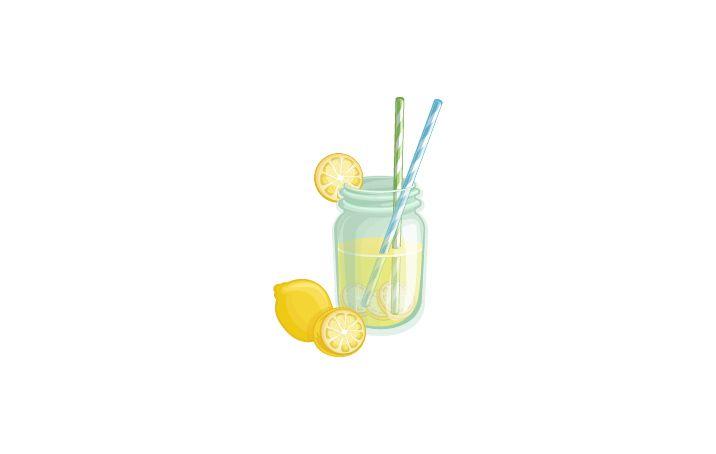 Lemonade Vector Image #lemonade #summer #cocktails http://www.vectorvice.com/summer-snacks-pack