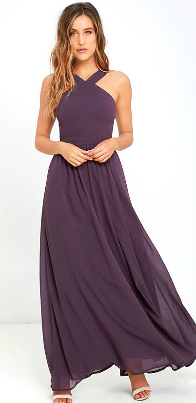 Purple maxi dress for weddings 39 air of romance 39 dusty for Purple maxi dresses for weddings