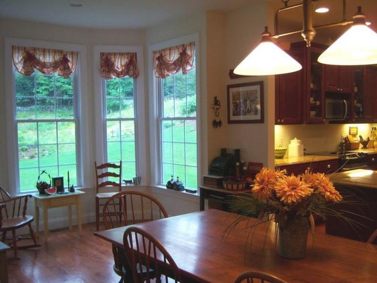 15 must see kitchen bay windows pins bay window seating for Window treatment ideas kitchen