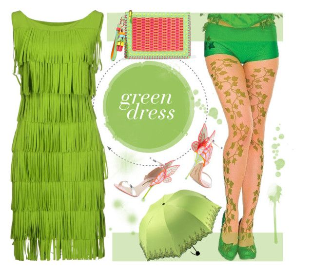 Green dress by crochetnecklaces on Polyvore featuring La Petite Robe di Chiara Boni and Sophia Webster