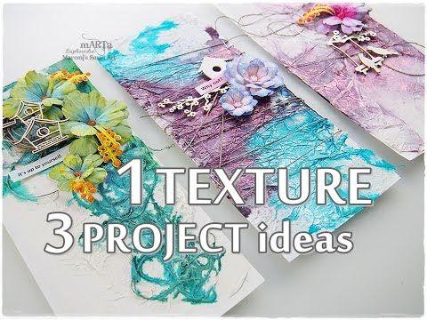 1 TEXTURE 3 Project Ideas ♡ Mixed Media Art Tutorial ♡ Maremi's Small Art ♡
