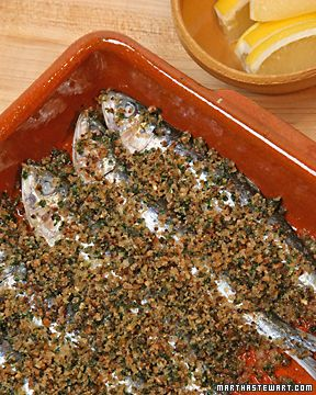 Roasted Sardines - Martha Stewart Recipes