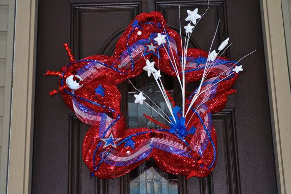 Wreath For The 4th Of July Where Can I Get A Star Shaped Heart Base For This Summertime