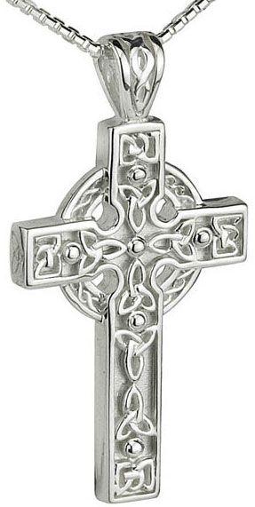 IrishJewelryOnline.com: Sterling Silver Heavy Large Celtic Cross